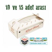 42 x 22 x 12 - Lahmacun Kutusu Saplı Dar Beyaz