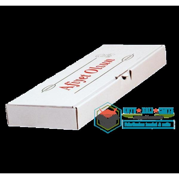 46 x 15 x 5 - Pide Kutusu Beyaz