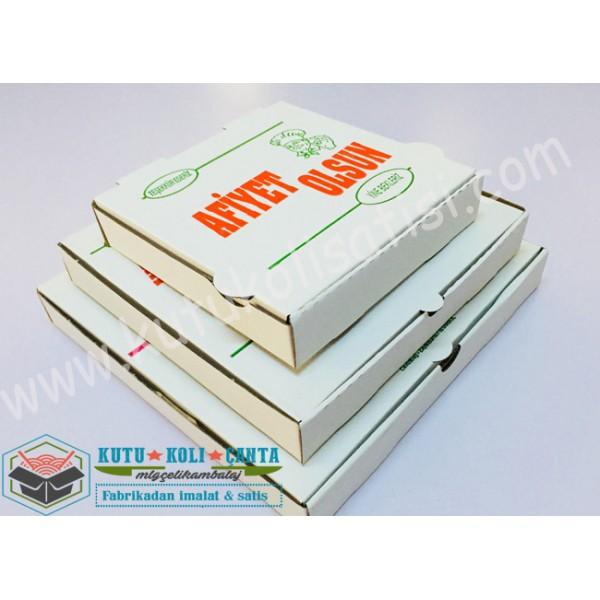 Pizza Kutusu Set 3 - Beyaz