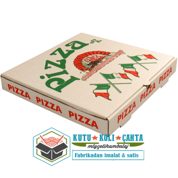 26 x 26 x 4  Pizza Kutusu Beyaz