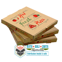 20 x 20 x 4  Pizza Kutusu Kahverengi