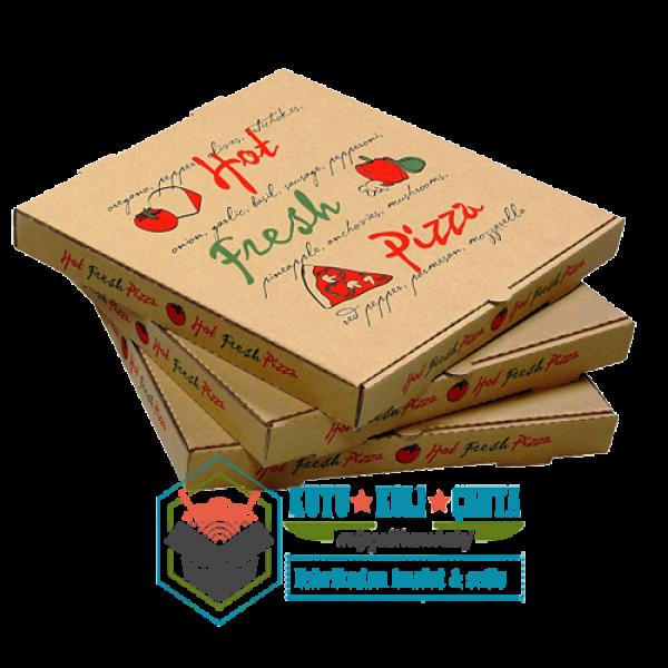 22 x 22 x 4 Pizza Kutusu Kahverengi